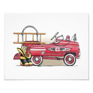 Fire Truck Pedal Car Photo Print