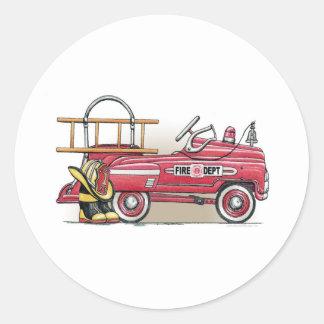 Fire Truck Pedal Car Sticker