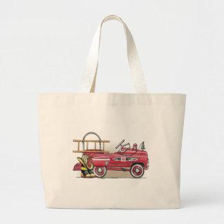 Fire Truck Pedal Car Tote Bag