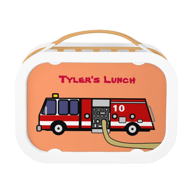 Fire Truck Personalized Name Lunchbox for Boys