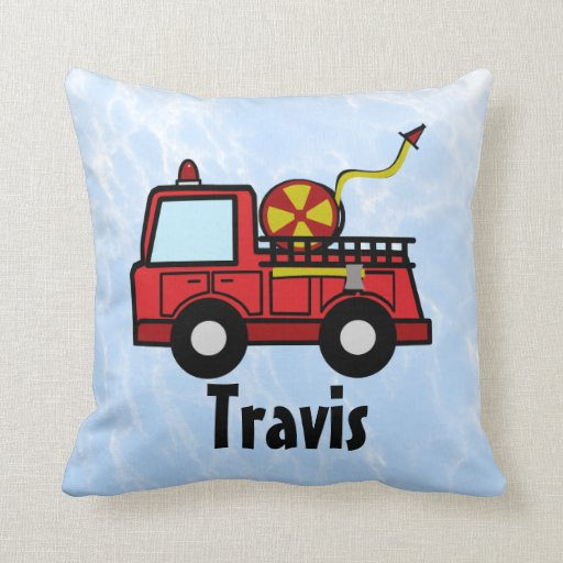 Fire Truck Personalized Throw Pillow Zazzle