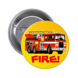 Fire Truck Pinback Button