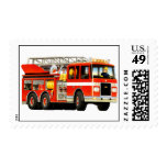Fire Truck Postage Stamp