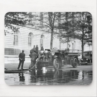 Fire Truck Power Wash, 1923 Mouse Pad