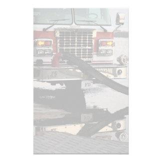 Fire Truck Pumper Hose Fade Fire Fighter Stationery
