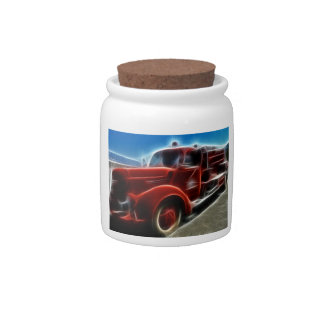 Fire Truck Red Hero Destiny Gifts Candy Jar