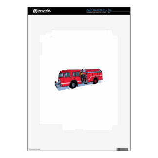 Fire Truck Skin For The iPad 2