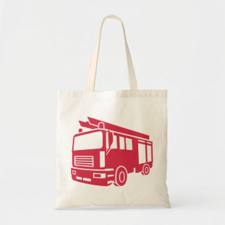 Fire truck tote bag