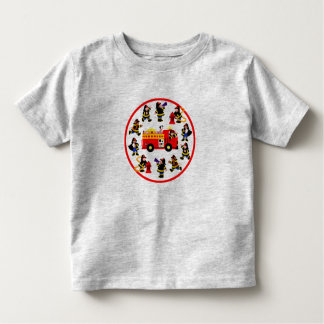 Fire Truck with Busy Firefighters Toddler T-shirt