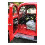 Fire Truck With Fireman's Uniform Custom Announcement