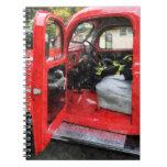 Fire Truck With Fireman's Uniform Journal