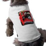 Fire Truck With Fireman's Uniform Pet T-shirt
