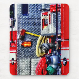 Fire Truck With Hoses and Ax Mouse Pad