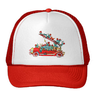 Fire Truck with Kids Cap