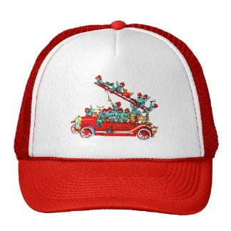 Fire Truck with Kids Cap Hats