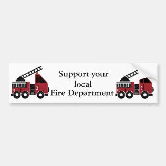 Fire trucks bumper sticker