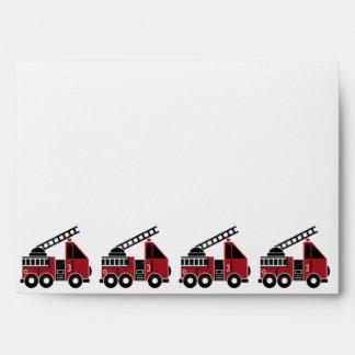 Fire trucks envelopes