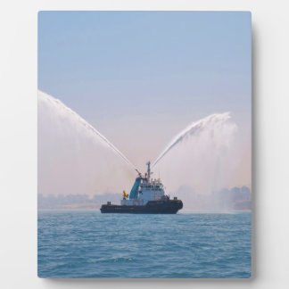 Fire Tug Welcome Display Plaque