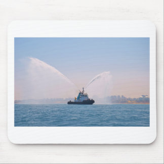 Fire Tug Welcome Mouse Pad