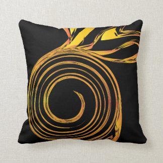 Fire turnip throw pillow