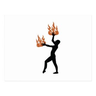 Fire Twirler Postcard