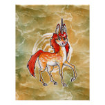 Fire Unicorn Poster