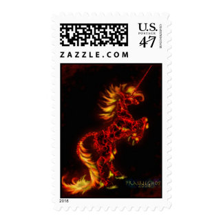 Fire Unicorn Stamps