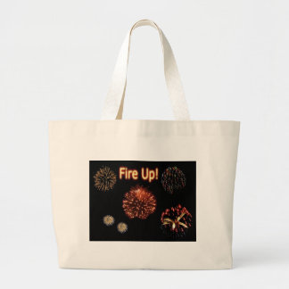 Fire Up!  Fireworks Large Tote Bag