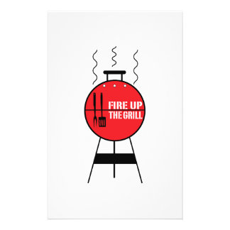 Fire Up The Grill Stationery Design