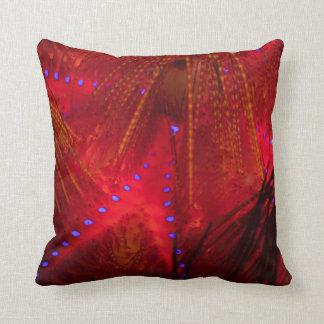 Fire Urchin Throw Pillow