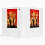 Fire v1 Spray Paint Painting w burnt trees Vinyl Binders