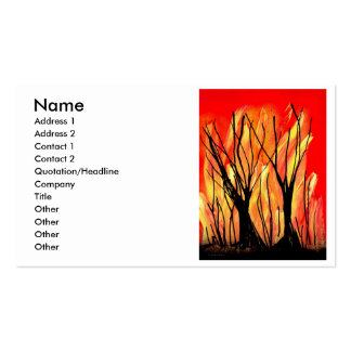 Fire v1 Spray Paint Painting w burnt trees Business Card
