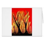 Fire v1 Spray Paint Painting w burnt trees Card