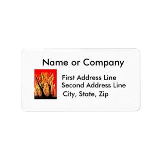Fire v1 Spray Paint Painting w burnt trees Custom Address Label