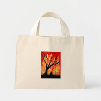 Fire v2 Spray Painting Figure Under Burnt Tree Bags