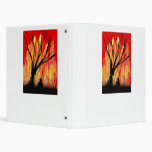 Fire v2 Spray Painting Figure Under Burnt Tree 3 Ring Binders
