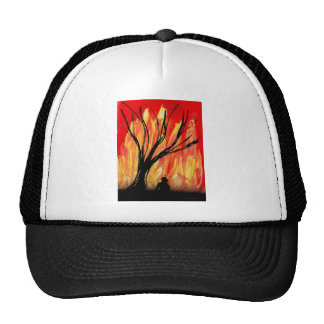Fire v2 Spray Painting Figure Under Burnt Tree Hat