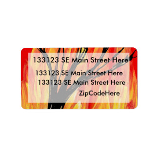 Fire v2 Spray Painting Figure Under Burnt Tree Personalized Address Labels