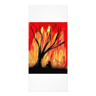 Fire v2 Spray Painting Figure Under Burnt Tree Rack Card