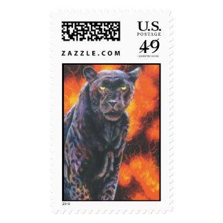 """""""Fire Walker"""" Postage Stamp"""