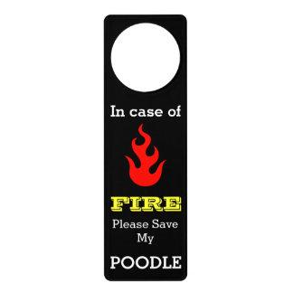 Fire Warning Save My Pet Customizable Door Hangers
