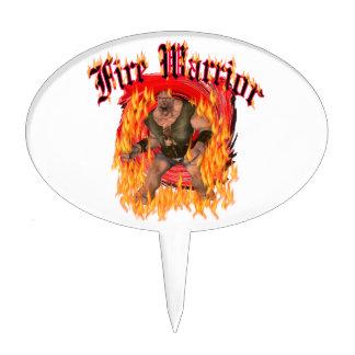 Fire Warrior Cake Pick