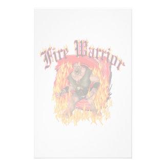 Fire Warrior stationery
