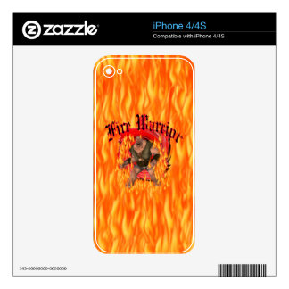 Fire Warrior Zazzle Skin Decal For The iPhone 4