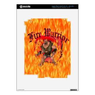 Fire Warrior Zazzle Skin iPad 3 Skin