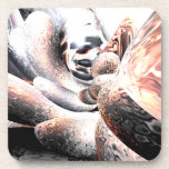 Fire Water Abstract Beverage Coasters