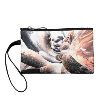 Fire Water Abstract Change Purse