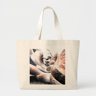 Fire Water Abstract Large Tote Bag