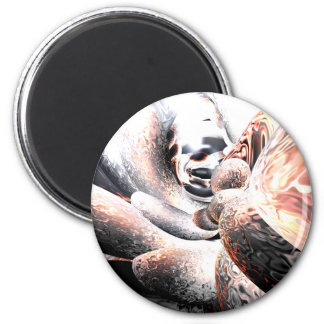 Fire Water Abstract Magnet