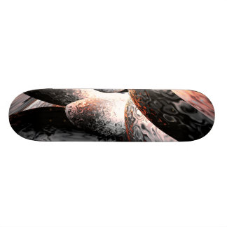 Fire Water Abstract Skateboard V2